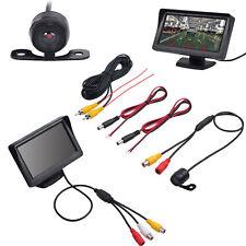 "Vehicle Rear View 4.3"" Monitor+ IR Backup Reversing Camera 170° Waterproof Set"