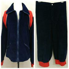 VTG 70s Cross Country Ski Jacket Knickers Blue Corduroy Womens M 28 Waist Canada
