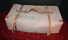 Antique Military Drop Sack Drop Box First Aid Bag Canvas Carrying WBBC WWI? WW2?