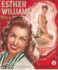 Vintge 1950 Esther Williams Paper Doll ~Pretty Laser Reproduction~Org Size Uncut