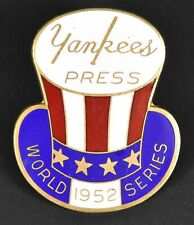 Vintage Rare Original 1952 New York Yankees World Series Baseball Press Pin