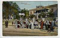 (Lz113-100) ALEXANDRIE, Station d'aniers, Natives with Donkeys c1910, Unused VG