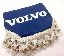 VOLVO Truck Window Shield Pelmet Tassels Windscreen Waveform Logo Emblem Blue