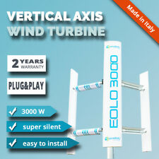 Vertical Axis 3kw Wind Turbine Generator EOLO 3000 Hybrid Darrieus Savonius VAWT