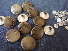 281 8 Metallknöpfe Knöpfe  20,5mm messing antik