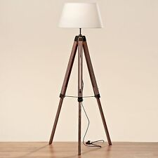Stehlampe Lampe leuchte Tannenholz H145 Cm braun