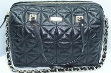 New Kate Spade Kensey Place Bag Black Sedgewick Handbag Quilted