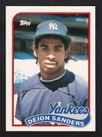 1989 TOPPS TRADED #110T DEION SANDERS BASEBALL ROOKIE 1 CARD YANKEES RC SHARP