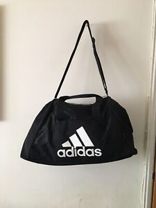 Mens Large Genuine ADIDAS Gym Sports Kit Weekend Black Bag