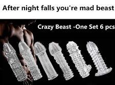 6pcs Beast Reusable Condom Set-6 different type