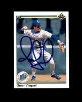 Omar Vizquel Hand Signed 1990 Upper Deck Seattle Mariners Autograph