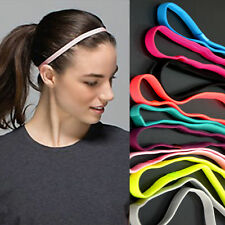 Sports elastic headband double hair band non slip stretch gym yoga ladies mens