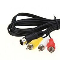 AV Video RCA Cable 6ft for Sega Genesis Model 2/3, CDX, 32X, Nomad, JVC X'Eye
