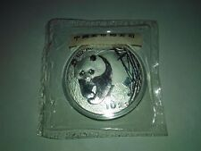 Chinese Panda 2002 1 oz .999 Silver Coin (Original Mint Sealed)