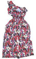 Preworn Womens Size 12 Floral Black Jumpsuit (Regular)