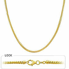 "2.50mm 20"" 22.00gm Solid 14k Gold Yellow Men's Franco Chain Necklace Polished"