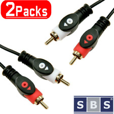 2x Cinch Chinch Kabel 3m Anschlusskabel mit 2 Stecker Audio Stereo RCA HiFi AUX