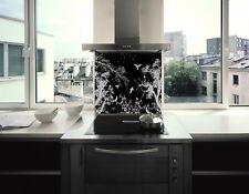 MEGA SALE..12mm BLACK DESIGNER STAINLESS STEEL SPLASHBACK 900W X 750H **