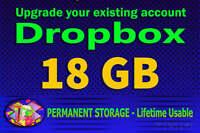 dropbox upgrade space lifetime service 18GB⭐