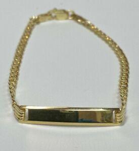 10 Kt yellow gold Cuban Link ID Bracelet