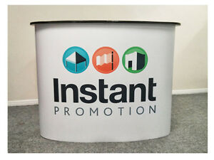 Pop Up Display Counter, Exhibition Show Stand, Trade Show Pop Up Podium Banner