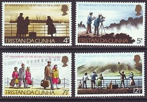 Tristan da Cunha 1973 SC 185-188 MNH Set 10th Anniversary
