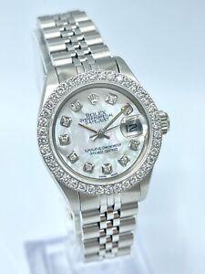 Rolex Datejust 26mm Ladies 6919 MOP Diamond Dial & Bezel Steel Jubilee Silver