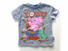 "Girl's George Pig "" I Like Mud "" Short Sleeved T-Shirt- Age 3-4 years- NEW"