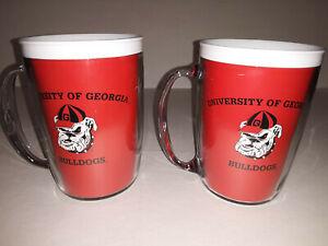 Georgia Bulldogs 12 oz Plastic Tumbler  Mug ( set of two )