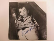 "SIGNED Butch Patrick ""Eddie"" The Munsters AUTOGRAPHED 12x12"" Calendar Sheet"