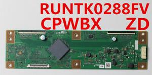 Original T-con Board RUNTK CPWBX 0288FV ZD For TV