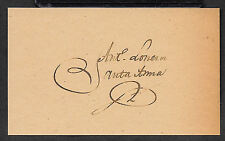 Antonio Lopez de Santa Anna Autograph Reprint On Genuine Original Period Paper