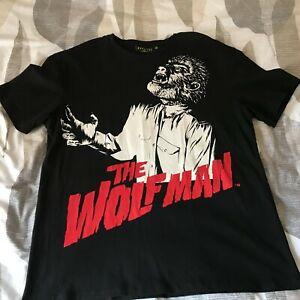 Universal Studios Monsters The Wolfman T-shirt Medium Black Halloween