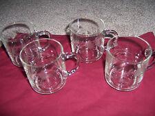 4 Princess House Heritage  Glass Crystal Tea Cups Coffee Mugs