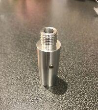 "Silencer adaptor 14mm with 1/2"" UNF thread / polished Aluminum sku.46"