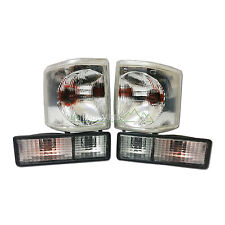 LAND ROVER DISCOVERY 1 NEW FRONT & REAR CLEAR LIGHT LAMP UPGRADE SET (1994-1998)