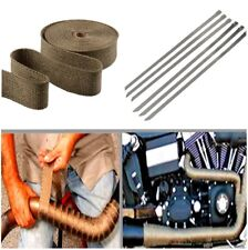 Durable Car Vehicle Exhaust Pipe Heat Wrap Noise Reduction With Stainless Ties