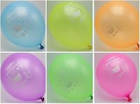 "50pcs 10"" Mixed Color ""Happy Birthday"" Latex Balloons Celebration Party"