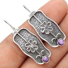 Siberia Charoite 925 Sterling Silver Earrings Jewelry SE116189