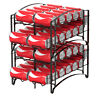 2 Pack Stackable Soda Can Rack Organizer Can Storage Dispenser Kitchen Cabinet