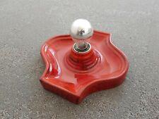 70er/Space Age Keramik Lampe rot, HUSTADT-Leuchten, Zustand 1a