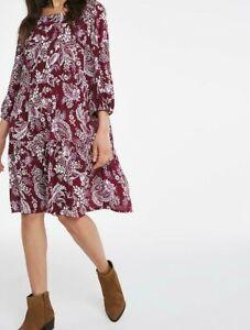CAPSULE LADIES CRINKLE SMOCK DRESS PAISLEY PRINT NEW (ref 547)
