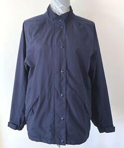 Footjoy FJ Women's S Navy Long Sleeve DRYJOYS Fully Lined Waterproof Golf Jacket