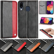 Splice Wallet Leather Flip Case Cover For Samsung S10 S9 S8Plus A10 A20E A30 A50