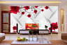 3D Red Flowers Squid Water Paper Wall Print Wall Decal Wall Deco Indoor Murals