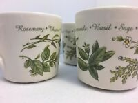 Corning Corelle Tea Coffee Cups Mugs Herbs Discontinued Thymeless Herbs Set of 3