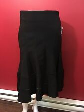 NANETTE LEPORE Women's Black Rayon Stretch Skirt - Size 6 - NWT