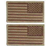 U.S. Air Force Regulation OCP Spice Brown Flag Patch reversed with hook (pair)