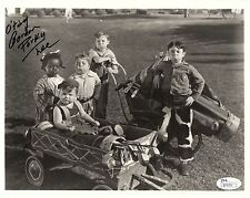 Gordon Porky Lee Hand Signed 8x10 Photo With The Our Gang Cast Rare Jsa