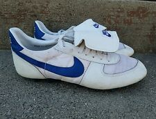 vintage 1982 Nike Soccer Shoes white Blue Swoosh USA Mens Size 11.5